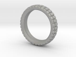 Knobby Tire Ring in Aluminum