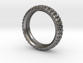 Knobby Tire Ring in Polished Nickel Steel