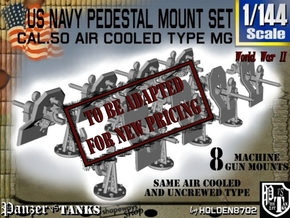 1/144 US Navy M2 Air Cool Pedestal Mount Set in Smooth Fine Detail Plastic