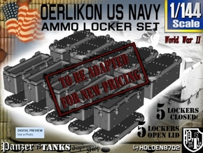 1/144 Oerlikon USN X10 Ammo Locker in Smooth Fine Detail Plastic