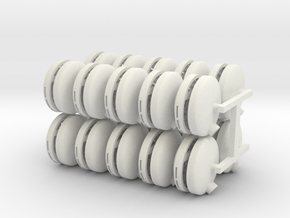 Turbo Tubs 20 pack in White Strong & Flexible