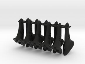 10 pcs. 26mm F2D control horn - 2nd gen in Black Strong & Flexible