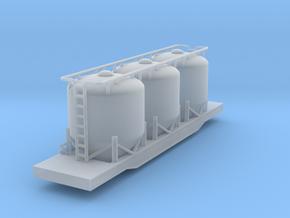Halliburton Pneumatic Hopper Car - Zscale in Smooth Fine Detail Plastic