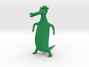 Gavial Stl in Green Processed Versatile Plastic