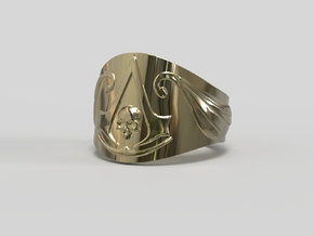 Pirate Assassin's ring in 14k Gold Plated Brass: 8 / 56.75