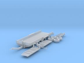 H0 1:87 Tandem-Tiefladeanhänger in Smooth Fine Detail Plastic