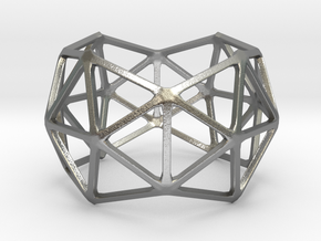 Catalan Bracelet - Pentakis Dodecahedron in Natural Silver: Large