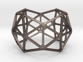 Catalan Bracelet - Pentakis Dodecahedron in Polished Bronzed Silver Steel: Large
