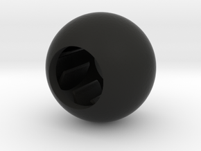 Acoustic Sphere (12.8mm mic) (25mm diameter) in Black Natural Versatile Plastic