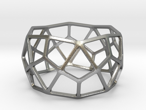 Catalan Bracelet - Deltoidal Hexecontahedron in Natural Silver: Large