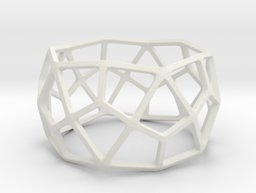 Catalan Bracelet - Deltoidal Hexecontahedron in White Natural Versatile Plastic: Small