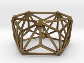 Catalan Bracelet - Triakis Icosahedron in Natural Bronze: Large