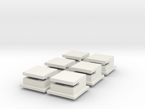 Omaha Beach Block House Set Of 6 in White Strong & Flexible
