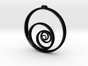 Aurea_Pendant in Matte Black Steel