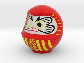 DARUMA(Red hissyou) in Full Color Sandstone