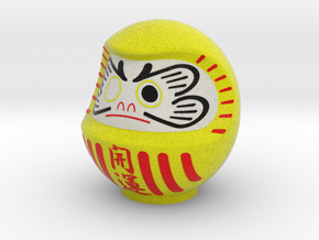 DARUMA(Yellow kaiun) in Full Color Sandstone