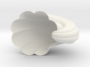 Fluted Nautilus Shell in White Natural Versatile Plastic