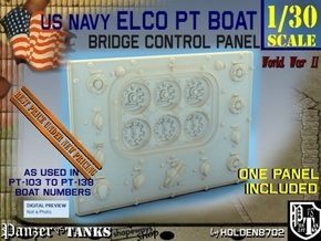 1-30 PT Boat Bridge Control Pannel Typ1 in Smooth Fine Detail Plastic