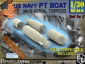 1-30 Torpedo Mk13 For PT Boat Set1 in White Processed Versatile Plastic
