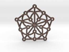 Generalized Quadrangle Pendant in Polished Bronze Steel