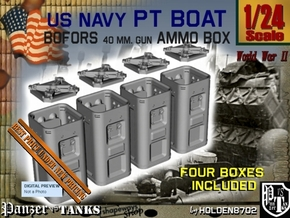 1-24 Bofors Ammo Box Set1 in Smooth Fine Detail Plastic