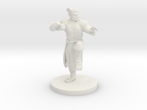 Half Orc Male Monk in White Strong & Flexible