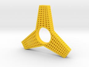 Fidget Spinner in Yellow Processed Versatile Plastic
