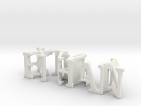 3dWordFlip: ETHAN/XAVY in White Strong & Flexible