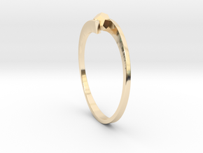 Game Changer Ring in 14k Gold Plated Brass
