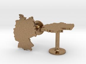 Germany Cufflinks in Natural Brass