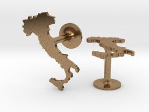 Italy Cufflinks in Natural Brass