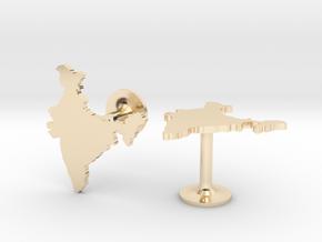 India Cufflinks in 14k Gold Plated Brass