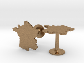 France Cufflinks in Natural Brass