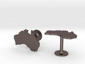Australia Cufflinks in Stainless Steel