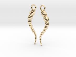 Leptohalysis Benthic Foraminiferan Earrings in 14k Gold Plated Brass
