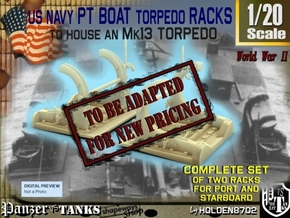1-20 PT Torpedo Rack TypA in Transparent Acrylic