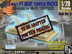 1-20 PT Torpedo Rack TypC in Transparent Acrylic