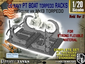 1-20 PT Torpedo Rack TypC WSF in White Natural Versatile Plastic
