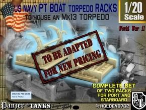 1-20 PT Torpedo Rack TypD in Transparent Acrylic