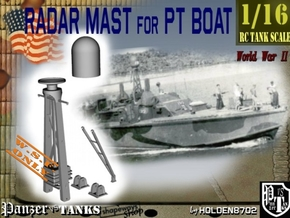 1-16 Radar Mast For PT BOAT in White Processed Versatile Plastic