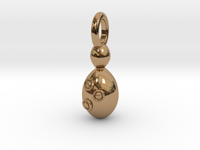 Saccharomyces Yeast Pendant - Science Jewelry in Polished Brass