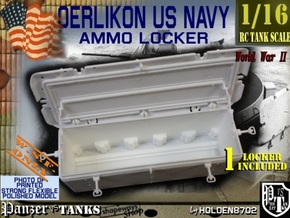1-16 Oerlikon US Navy Ammo Locker in White Natural Versatile Plastic