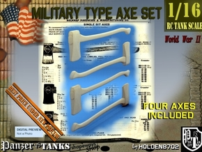1-16 Military Type Axe Set in Smooth Fine Detail Plastic