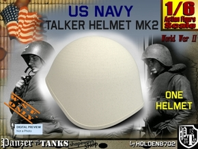 1-6 USN Mk2 Talker Helmet in White Natural Versatile Plastic