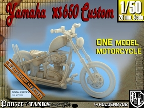 1-50 Yamaha XS650 Custom in Smooth Fine Detail Plastic