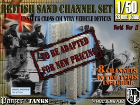 1-50 British Sand Channel Set in Transparent Acrylic