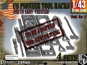 1-43 US Pioneer Tool Rack in Transparent Acrylic