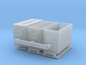 1/18 scale 50 cal' ammo boxes. in Smooth Fine Detail Plastic