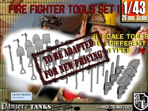 1-43 Firemen Tools Set 1 in Transparent Acrylic