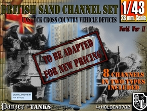 1-43 British Sand Channel Set in Transparent Acrylic